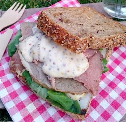 Bocadillo de Roast Beef DELMOR con mayonesa de mostaza